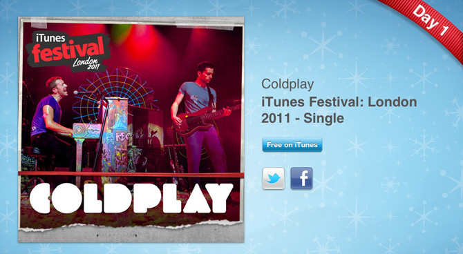 Album de Coldplay en iTunes Festival Londres 2011 gratis 6