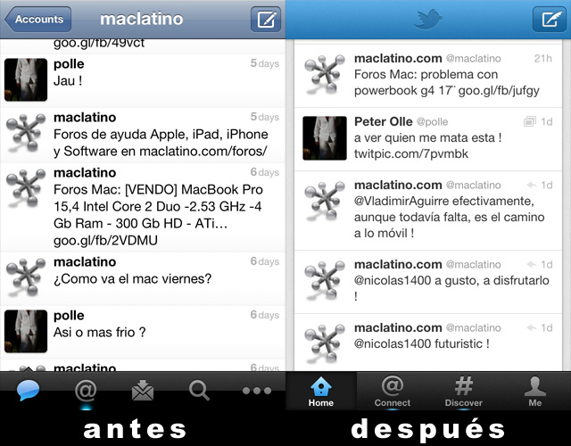 Twitter 4.0 para iPhone, iPad y iPod touch 3