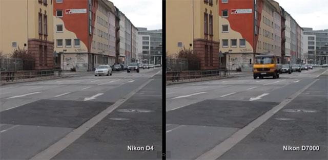 Nikon D4 vs Nikon D7000