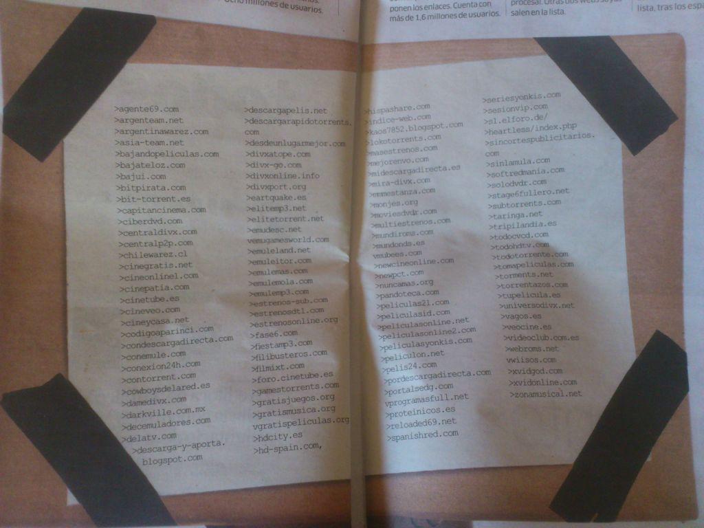 La Ley Sinde ya tiene en su lista de cierres a 122 sitios web 3
