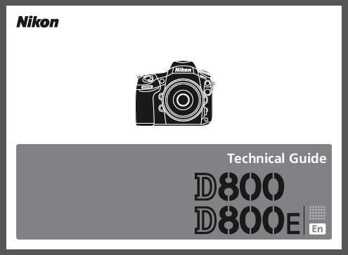 Guia Tecnica Nikon D800 Y D800 E