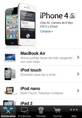 Actualización de la aplicación Apple Store, versión 2.1 para iPhone 1