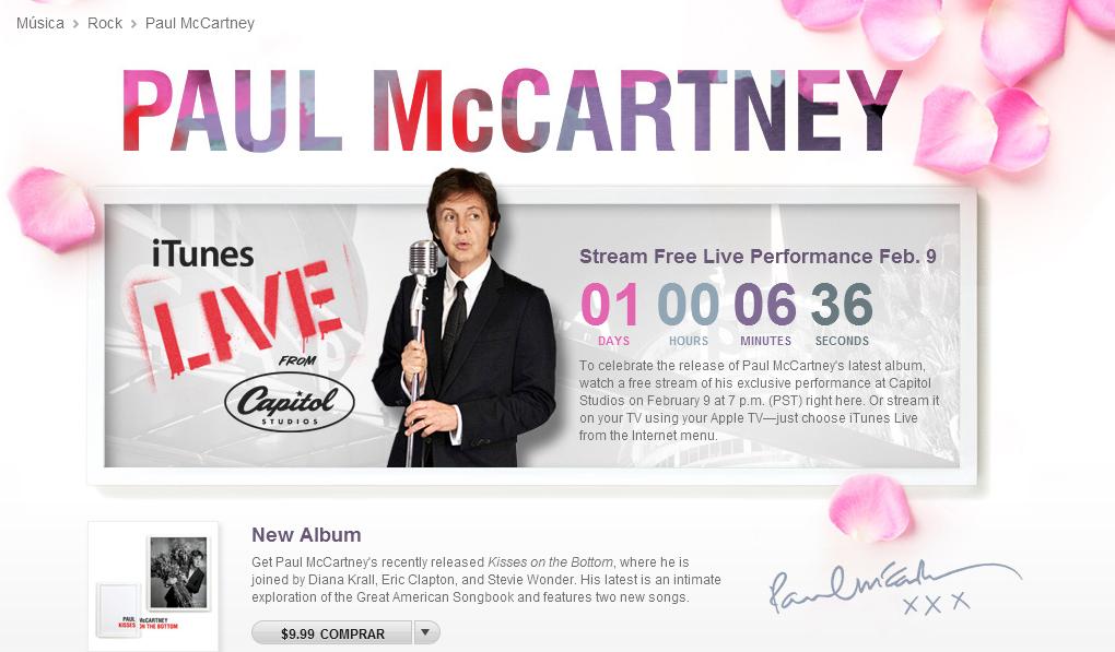 ¿Eres fan de Paul McCartney? Entonces no te pierdas su concierto en directo desde iTunes hoy jueves 1