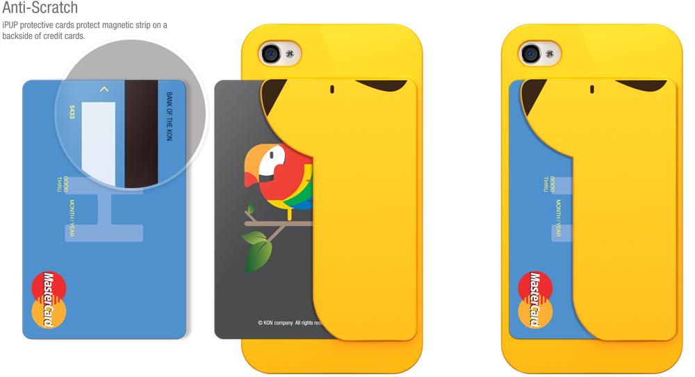 Funda para iPhone 4 y 4S con almacenamiento para la tarjeta de crédito 3
