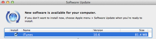 iTunes 10.6 1