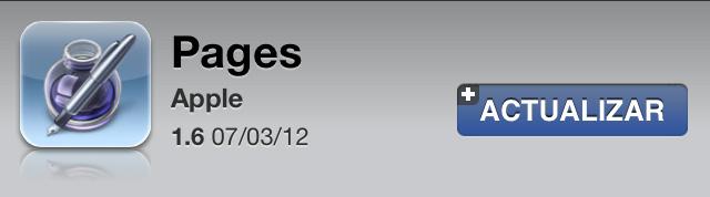 Pages 1.6 para iOS con soporte para la pantalla Retina del nuevo iPad 1