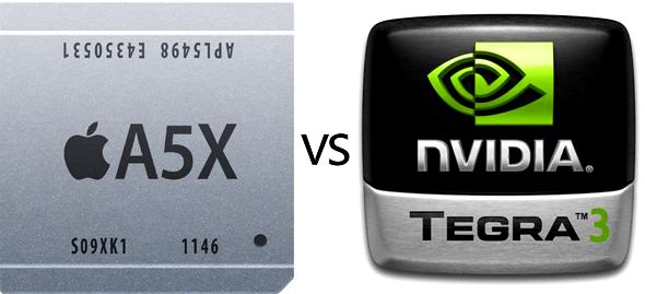 Comparativa entre el procesador A5X de Apple y Tegra 3 de Nvidia 1