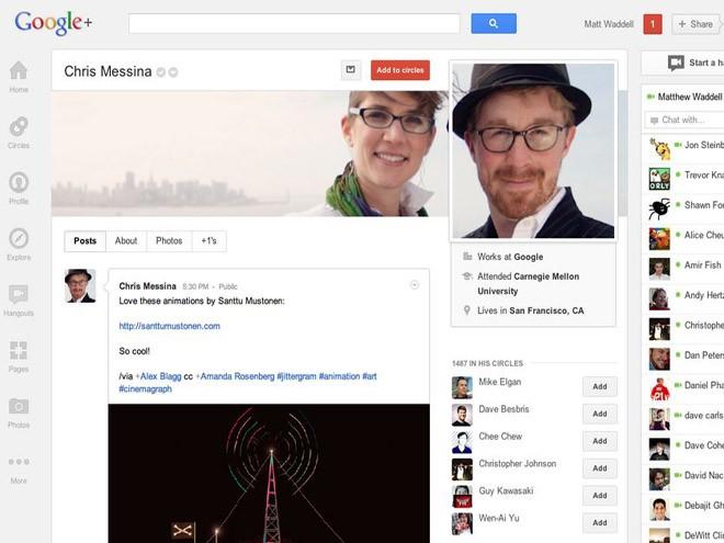 El botón Google+1 ahora tiene más integración con la red social Google+ 7