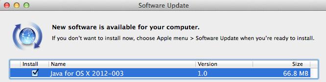 Solución al problema de Flashback con una actualización de Java para Mac OS X 5