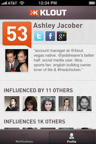 Descarga Klout para iPhone y mide tu influencia en las redes sociales 1
