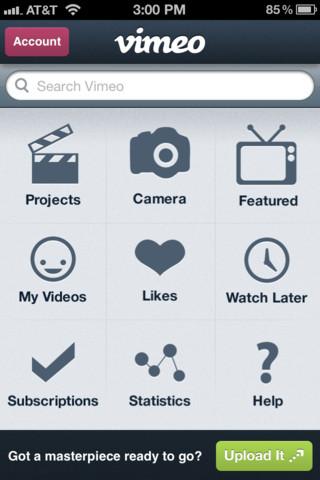 Descarga la aplicación de Vimeo para iPhone e iPad, versión 2.0.2 3