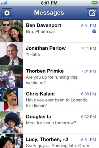Descarga Facebook Messenger para iPhone, versión 1.7 2
