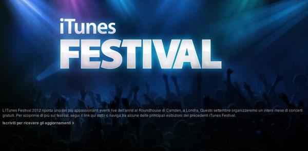 Descarga la aplicación del iTunes Festival 2012 para iOS 1