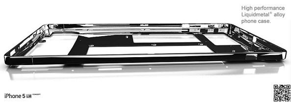 Concepto del próximo iPhone fabricado con Liquidmetal 2