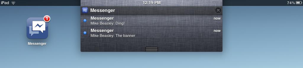 Descarga Facebook Messenger para iPhone, versión 1.7 3
