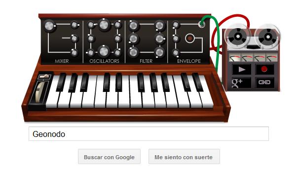 Google hace un homenajea al creador del sintetizador con un doodle 2
