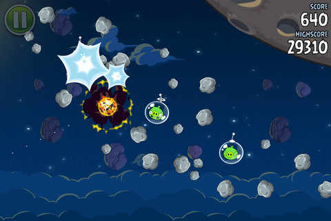 Descarga Angry Birds Space 1.1.0 para iPad e iPhone 5