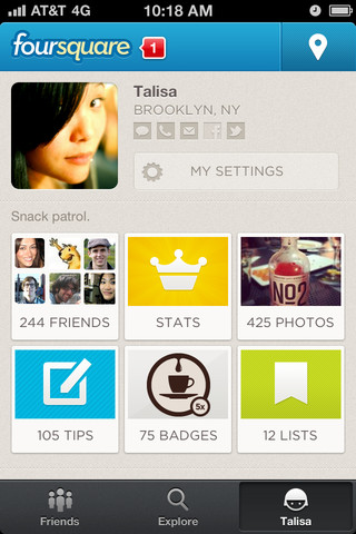 Descarga Foursquare para iPhone, versión 5.0 5