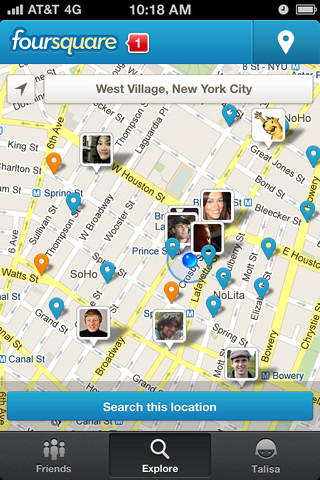 Descarga Foursquare para iPhone, versión 5.0 4