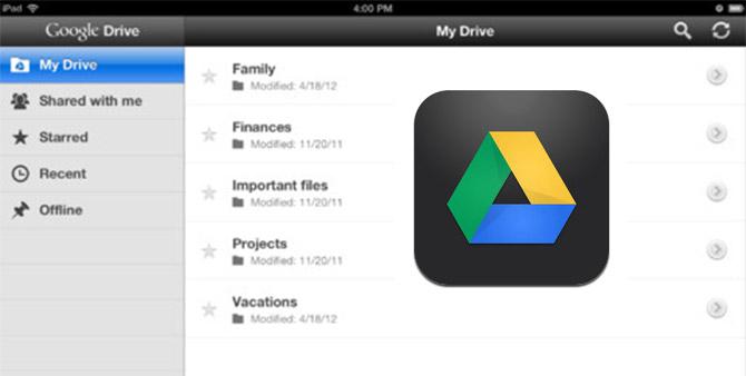 Google Drive para iPhone y iPad disponible para descargar 5