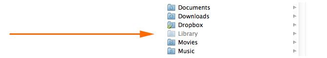 Librería siempre visible en OS X Lion 1