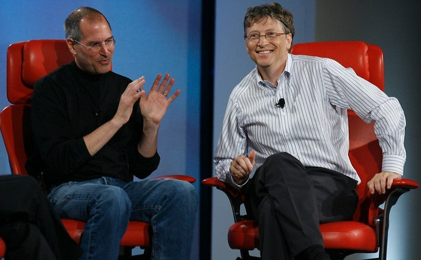 Steve Jobs vs Bill Gates con algo de humor 21