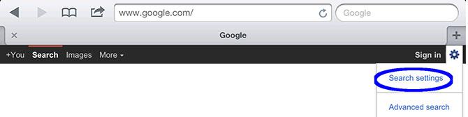 Escritura Google iPad