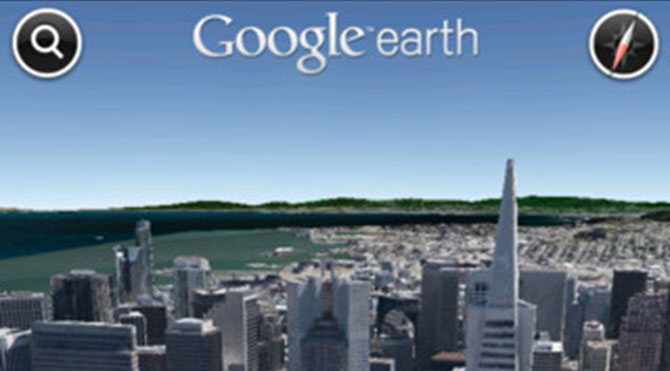Google Earth para iPhone y iPod Touch 1