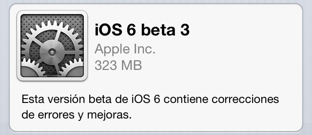 Descarga iOS 6 beta 3 1