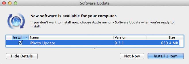 iPhoto 9.3.1 corrige el problema de actualización de librerías 7