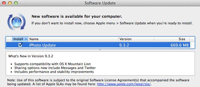 iPhoto 9.3.1 corrige el problema de actualización de librerías 6