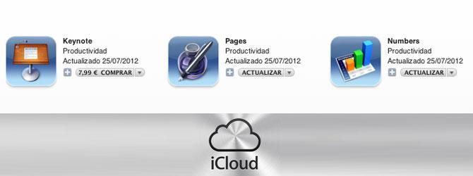 iWork para iOS con soporte para iCloud 1