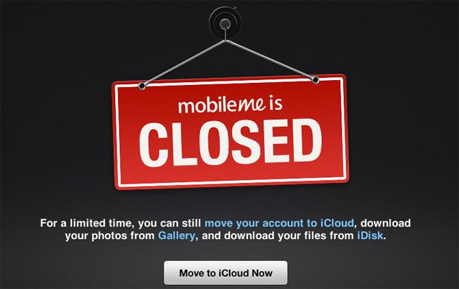 MobileMe ya no está disponible en las tiendas físicas y online 2
