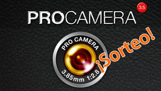 Licencias gratis de ProCamera para iPhone 10