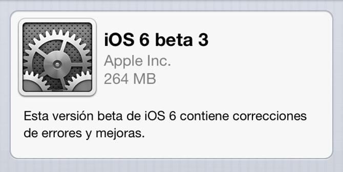 Descarga iOS 6 beta 3 3