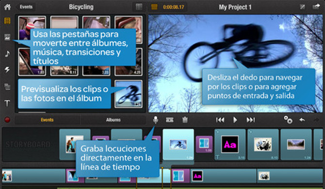 Pinnacle Studio para iPad