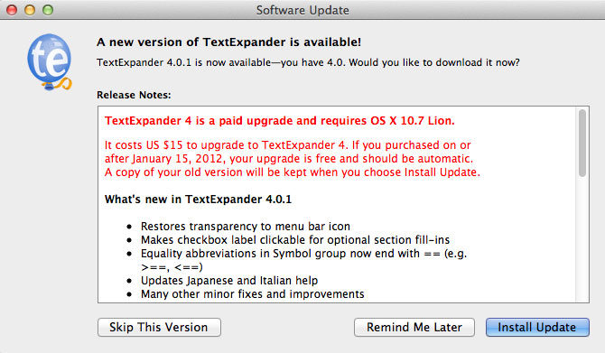 TextExpander 3.4 para Mac OS X 9