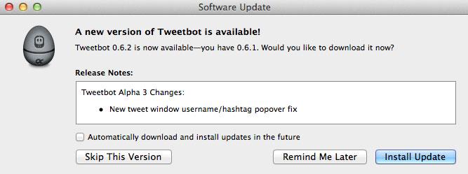 Quicksilver Twitter plugin para publicar en Twitter desde Quicksilver 14