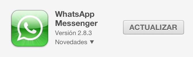 WhatsApp Messenger 2.8.3