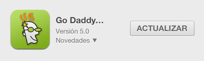 Go Daddy 5.0 para iOS