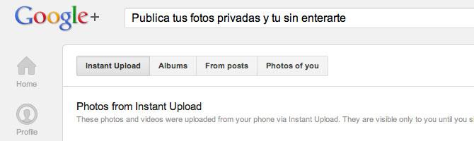 Subida instantánea de fotos en Google+ para iOS 2