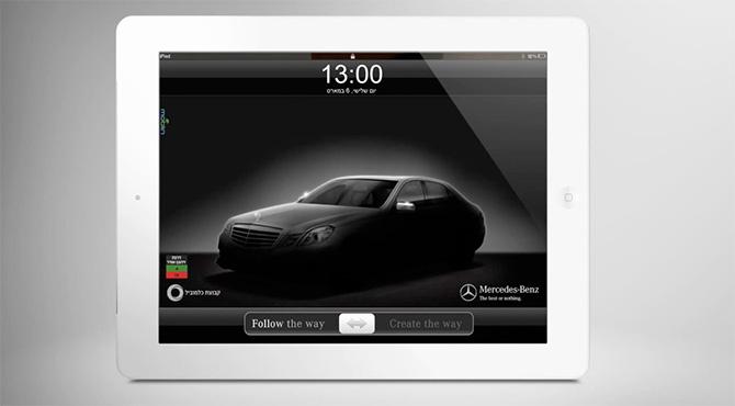 Publicidad de Mercedes-Benz en el iPad
