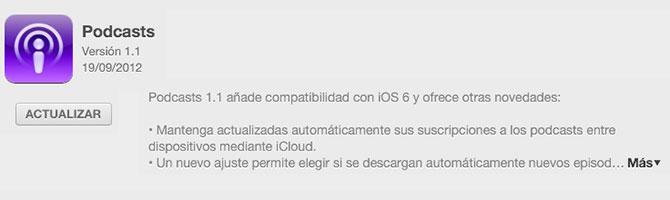 Podcasts para iOS con soporte para iOS 6 1