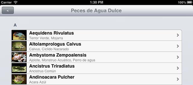 Información sobre Acuarios y Peces en tu iPhone y iPad con Acuario Adictos 1