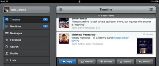 Twitter para iPhone con efectos para tus fotografías 3