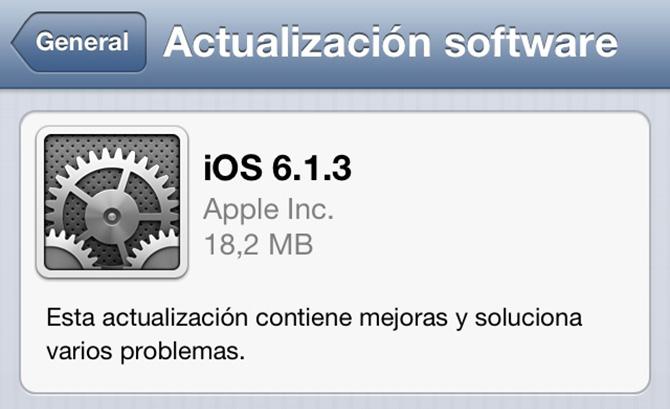 Descarga iOS 6.1.3 1