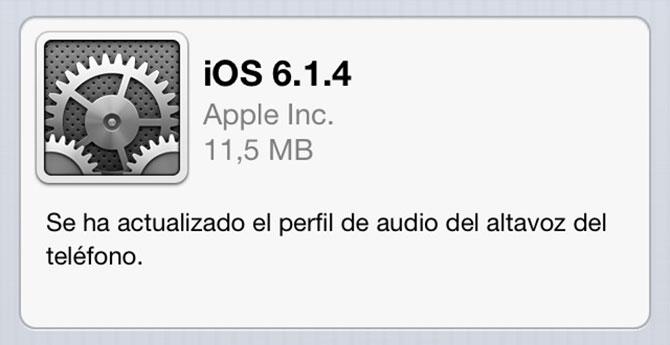 Descarga iOS 6.1.4 para iPhone 5 1