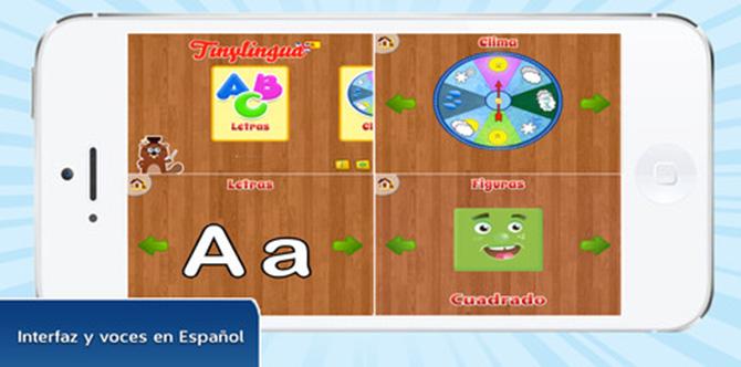 TinyLingua ofrece Actividades Educativas para Niños en Inglés y Español en iPhone y iPad 1