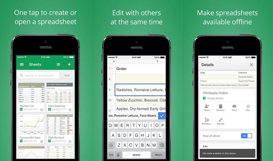 Google Sheets para iOS