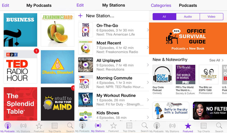 Podcasts para iOS versión 2.1